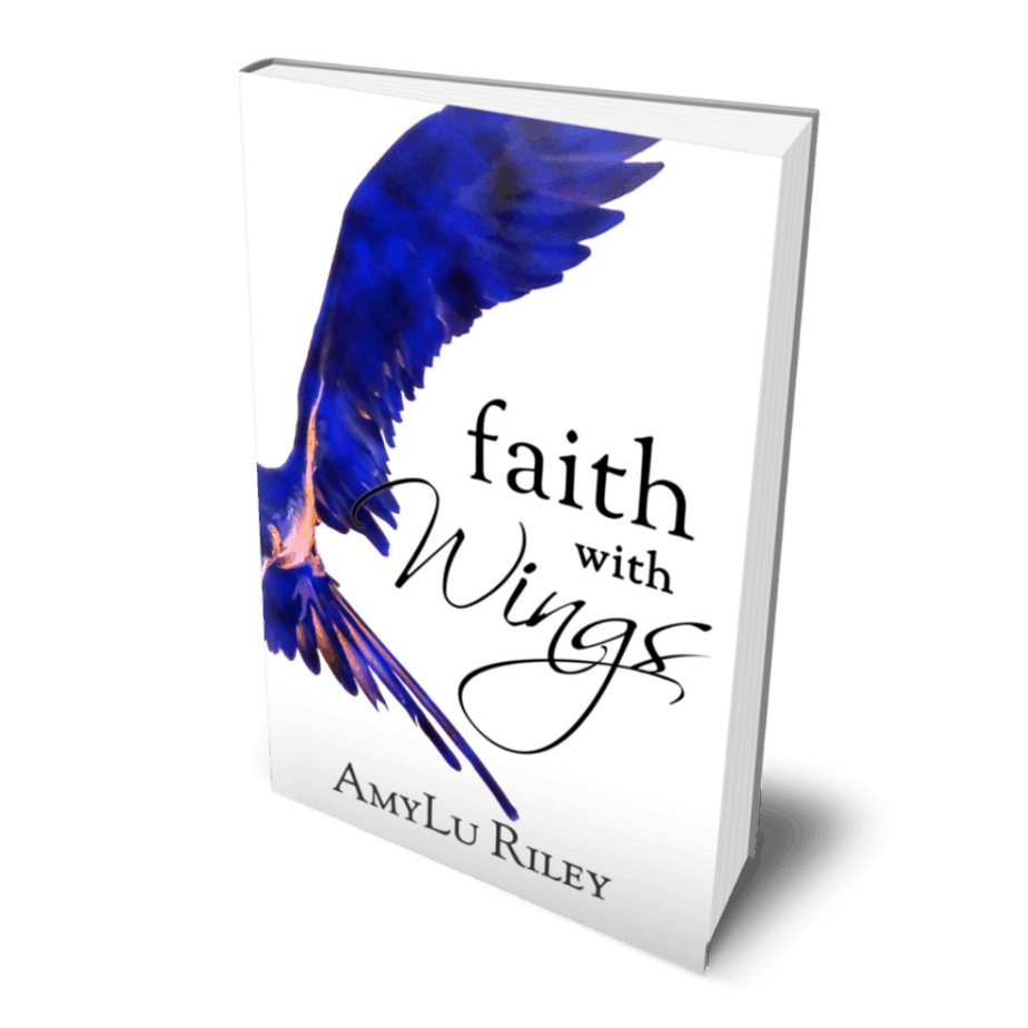 Book cover Faith with Wings by AmyLu Riley