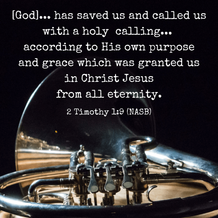 God has saved us and called us with a holy calling... according to His own purpose and grace which was granted us in Christ Jesus from all eternity. 1 Timothy 1:9 (NASB)